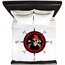 CafePress-Pirate-Compass-Rose-King-Duvet-Cover The Best Nautical Duvet Covers You Can Buy