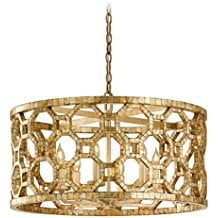 Chandelier-with-Hand-Crafted-Iron-Frame-and-Smoked-Capiz-Shell-Mosaic-Plating-2624 The Best Capiz Shell Chandeliers You Can Buy