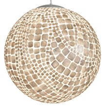 Cobblestone-Coastal-Beach-Capiz-Shell-Globe-Pendant-413 The Best Capiz Shell Chandeliers You Can Buy