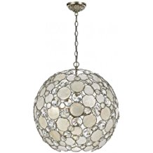 Crystorama-Lighting-Chandelier-with-Natural-White-Capiz-Shell-1550 The Best Capiz Shell Chandeliers You Can Buy