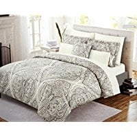 Cynthia-Rowley-Boho-Chic-Bedding-Taupe-Grey-Bohemian Bohemian Bedding and Boho Bedding Sets
