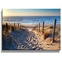 Footprints-beach-Wall-Art-oil-Paintings-Printed-Pictures- The Best Beach Paintings You Can Buy