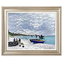 Framed-Art-Print-Monets-Beach-at-Sainte‑Adresse The Best Beach Paintings You Can Buy