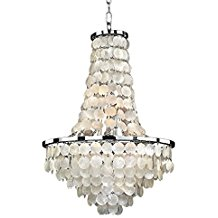 Glow-Lighting-636CD19SP-Vista-Crystal-Flush-Mount The Best Capiz Shell Chandeliers You Can Buy
