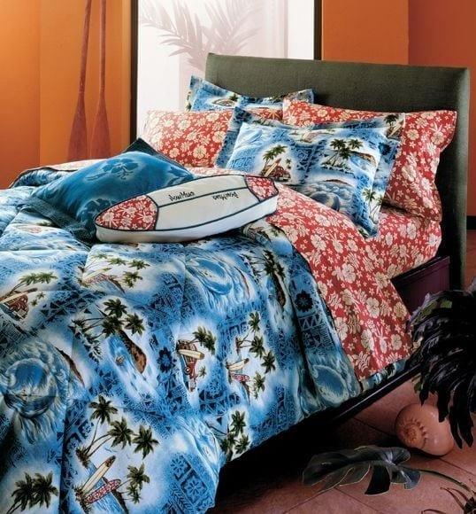 Hawaiian-Bedding-by-Dean-Miller-Surf-Bedding Best Surf Bedding and Comforter Sets