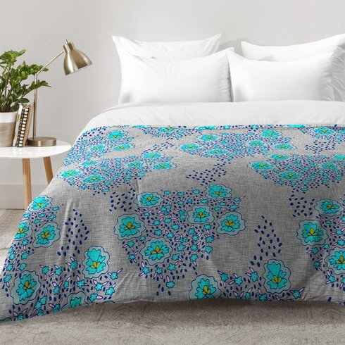 Holli-Zollinger-Boho-Floral-Comforter-Set Bohemian Bedding and Boho Bedding Sets
