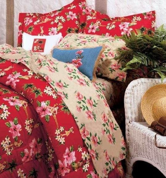 Hula-Girl-Room-by-Dean-Miller Best Surf Bedding and Comforter Sets