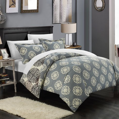 Jerome-Boho-Inspired-Reversible-Duvet-Cover-Set Bohemian Bedding and Boho Bedding Sets