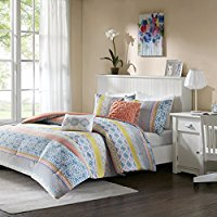 Joni-Comforter-Set-Coral-FullQueen Bohemian Bedding and Boho Bedding Sets