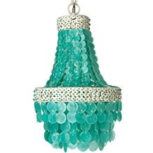KOUBOO-Manor-Chandelier-Capiz-Seashell-Small-Turquoise-295 The Best Capiz Shell Chandeliers You Can Buy