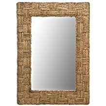 KOUBOO-Rectangular-Checquered-Wall-Mirror-in-Rope The Best Rope Mirrors You Can Buy