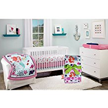 Little-Mermaid-4-Piece-Crib-Bedding-Set Best Mermaid Bedding and Comforter Sets