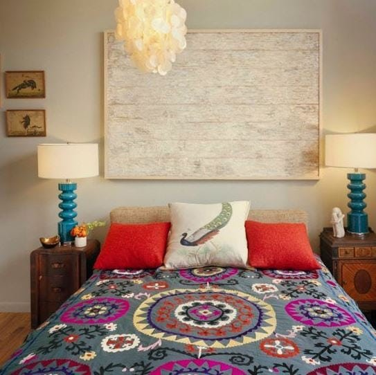 Loft-in-Brooklyn-Sweater-Factory-by-Ondine-Karady-Design Bohemian Bedding and Boho Bedding Sets