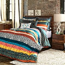 Lush-Decor-7-Piece-Boho-Stripe-Comforter-Set Bohemian Bedding and Boho Bedding Sets
