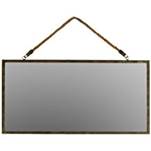 Metal-Rectangular-Wall-Mirror-with-Rope-Hanger The Best Rope Mirrors You Can Buy