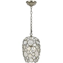 Mini-Chandeliers-1-Light-With-Antique-Silver-Natural-White-Capiz-Shell-410 The Best Capiz Shell Chandeliers You Can Buy