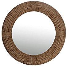 Privilege-88396-Round-Rope-Beveled-Coastal-Mirror-Brown-Medium The Best Rope Mirrors You Can Buy