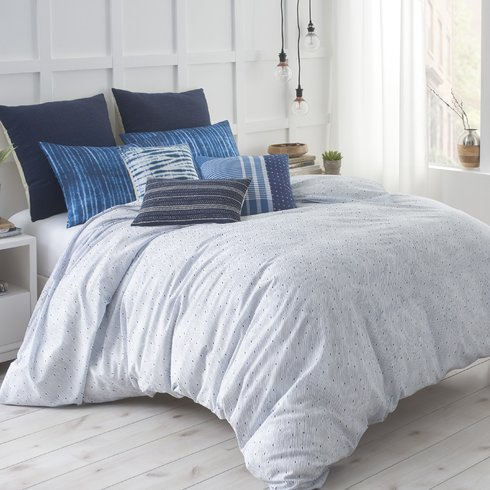 Shibori-Chic-Comforter Bohemian Bedding and Boho Bedding Sets