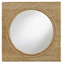 Sidra-Coastal-Beach-Square-Rope-Wrapped-Porthole-Mirror The Best Rope Mirrors You Can Buy