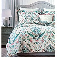 Tahari-Floral-Folklore-Watercolor-Duvet-Cover-3-Piece-Bedding-Set Bohemian Bedding and Boho Bedding Sets