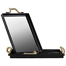 Urban-Trends-Metal-Rectangular-Tray-with-Mirror-Surface-and-Rope-Handles-Set-of-Two-Coated-Finish-Black The Best Rope Mirrors You Can Buy