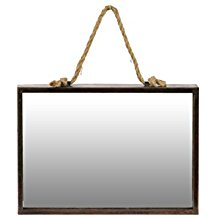 Urban-Trends-Metal-Rectangular-Wall-Mirror-with-Rope-Hanger-Bronze The Best Rope Mirrors You Can Buy