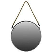 Urban-Trends-Metal-Round-Mirror-with-Rope-Hanger The Best Rope Mirrors You Can Buy