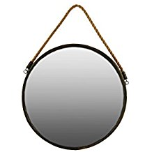 Urban-Trends-Metal-Round-Wall-Mirror-with-Rope-Gold The Best Rope Mirrors You Can Buy
