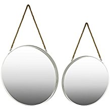Urban-Trends-Metal-Round-Wall-Mirror-with-Rope-Hanger-Set-of-2 The Best Rope Mirrors You Can Buy