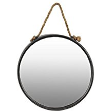 Urban-Trends-Metal-Round-Wall-Mirror-with-Rope-Hanger The Best Rope Mirrors You Can Buy