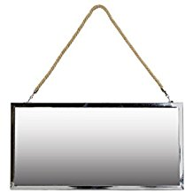 Urban-Trends-Stainless-Steel-Rectangular-Mirror-with-Rope-Hanger The Best Rope Mirrors You Can Buy