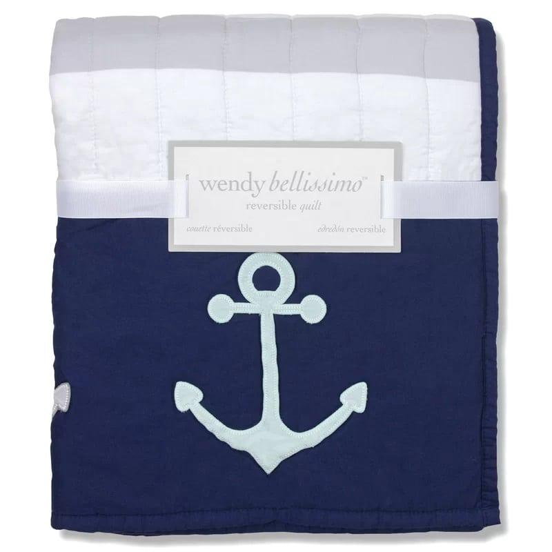 Wendy-Bellissimo-Landon-Reversible-Anchor-Quilt Best Anchor Bedding and Comforter Sets