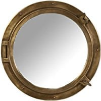 antique-brass-finish-porthole-mirror Best Porthole Mirrors For Nautical Homes