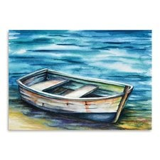 beached-rowboat-painting The Best Beach Paintings You Can Buy