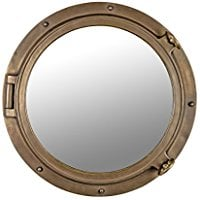 bronze-diameter-wall-mount-mirror Best Porthole Mirrors For Nautical Homes