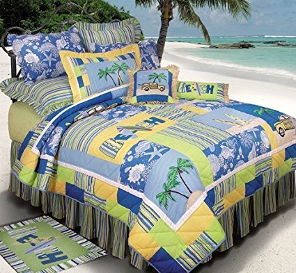 c-and-f-enterprises-surfers-collection-quilt Best Surf Bedding and Comforter Sets