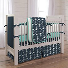 carousel-designs-teal-anchor-crib-bedding-set Best Anchor Bedding and Comforter Sets