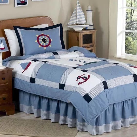 come-sail-away-anchor-comforter-set The Best Nautical Quilts and Nautical Bedding Sets