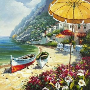 european-shoreline-oil-painting The Best Beach Paintings You Can Buy