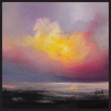 evening-beach-sunset-abstract-painting The Best Beach Paintings You Can Buy