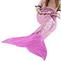 fitted-shimmering-mermaid-blanket-tail Best Mermaid Bedding and Comforter Sets