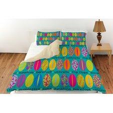 girls-surf-bedding-umbrella-flip-flops Best Surf Bedding and Comforter Sets