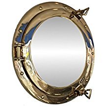 hampton-nautical-brass-porthole-mirror Best Porthole Mirrors For Nautical Homes