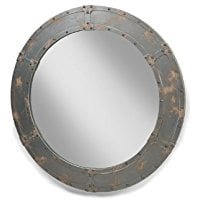 industrial-large-round-porthole-mirror Best Porthole Mirrors For Nautical Homes