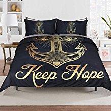 keep-hope-black-anchor-duvet-cover-set Best Anchor Bedding and Comforter Sets