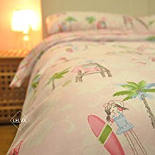 lelva-surf-girl-pattern-bedding Best Surf Bedding and Comforter Sets