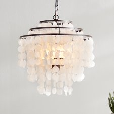 leondra-3-light-waterfall-chandelier-capiz-shells The Best Capiz Shell Chandeliers You Can Buy