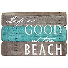 life-is-good-at-the-beach-wooden-sign 100+ Wooden Beach Signs and Wooden Coastal Signs