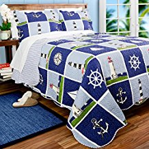 lighthouse-sailboat-anchor-quilt-set The Best Nautical Quilts and Nautical Bedding Sets