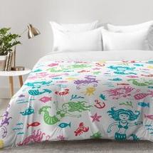 mermaid-sea-life-fun-pattern-comforter-set Mermaid Bedding Sets and Mermaid Comforter Sets